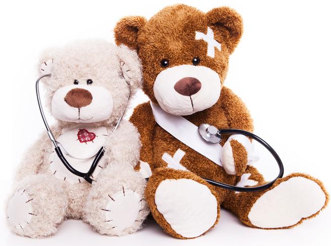 Zwei Stoffbären, Wiehler & Wiehler ambulante Intensivpflege