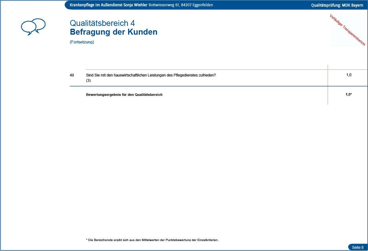 Qualität des Pflegedienstes Seite 8